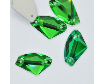 Стразы пришивные Galaxy Emerald 12x19