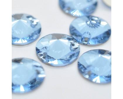 Стразы пришивные Риволи Denim Light Blue 14 мм