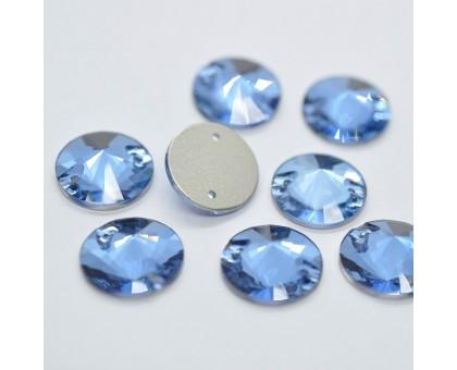 Стразы пришивные Риволи Denim Blue 14 мм