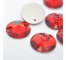 Стразы пришивные Риволи Siam 12 мм