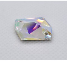 Стразы пришивные Гео Crystal AB 13x17 мм