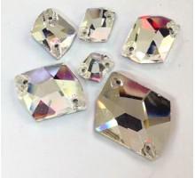 Стразы пришивные Гео Crystal 16х21