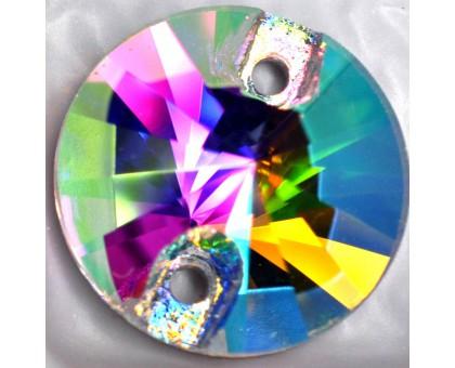 Стразы пришивные Риволи Crystal AB 14 мм