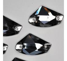 Стразы пришивные Galaxy Black Diamond 12x19
